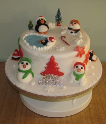 Click image for larger version.  Name:Penguin Xmas Cake (2) (Small).JPG Views:15702 Size:38.8 KB ID:80
